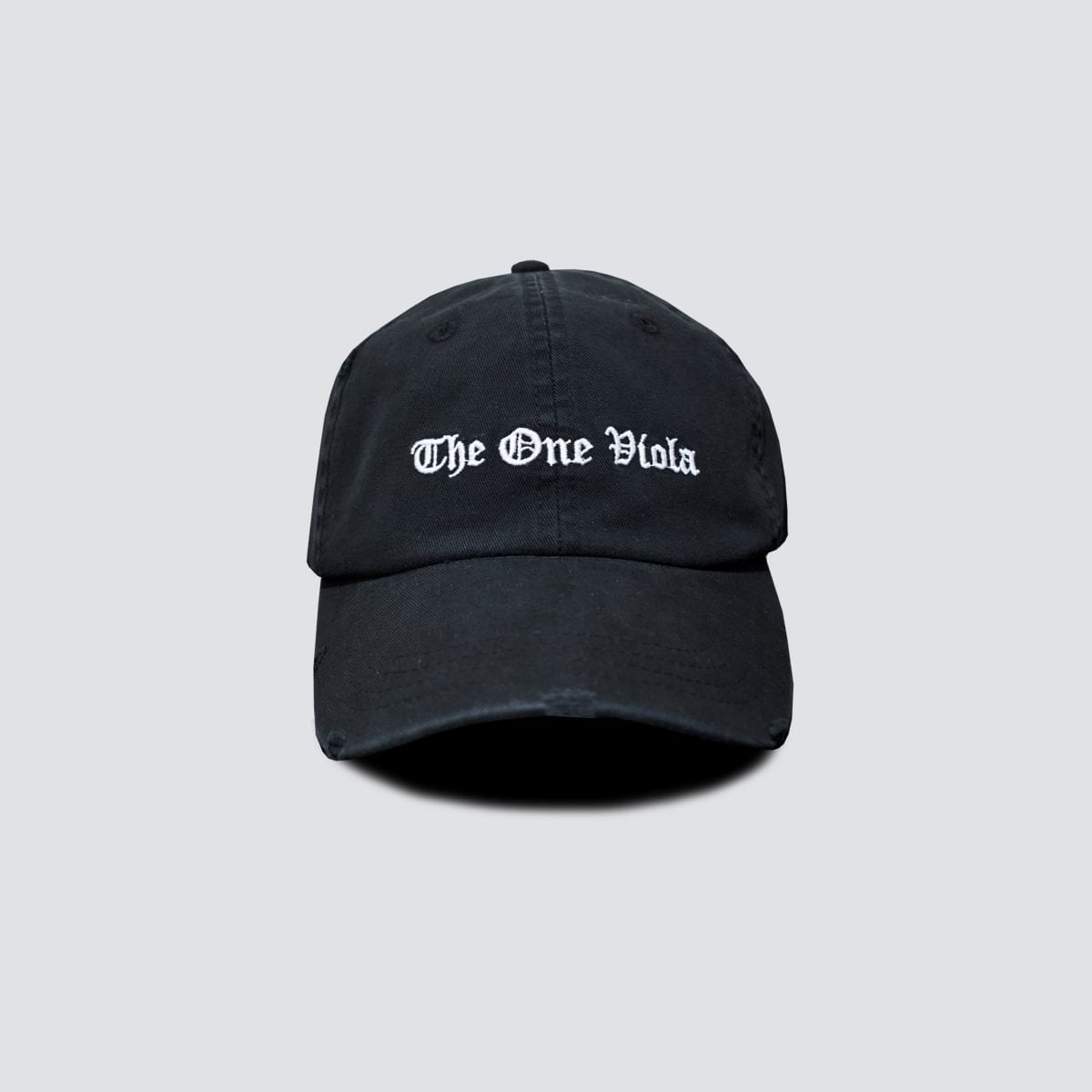 black distressed dad cap hat
