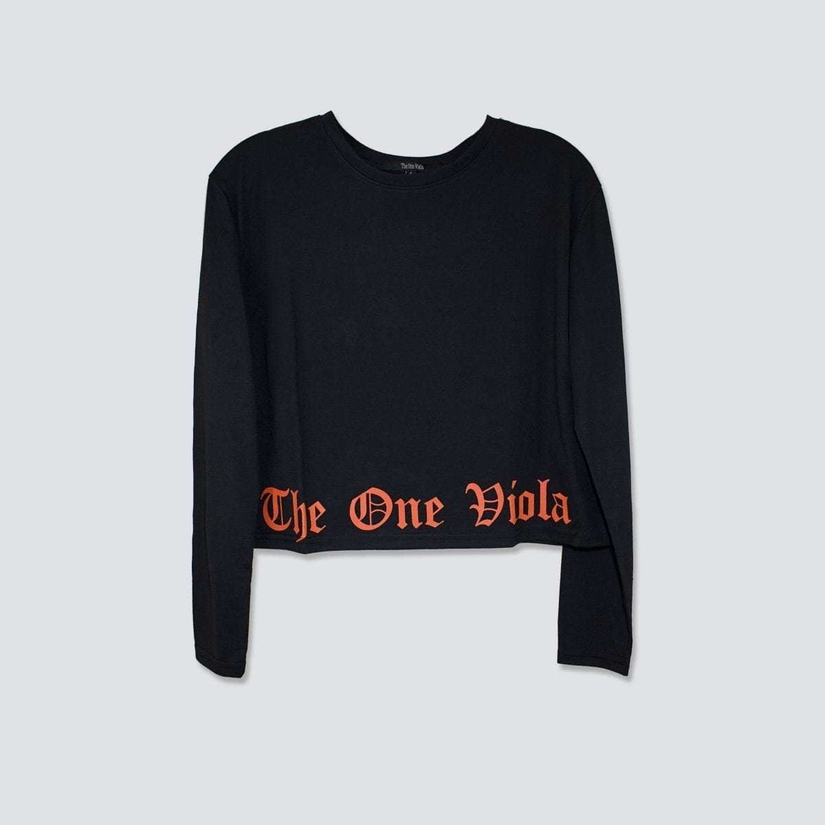 black long sleeve streetwear crop top
